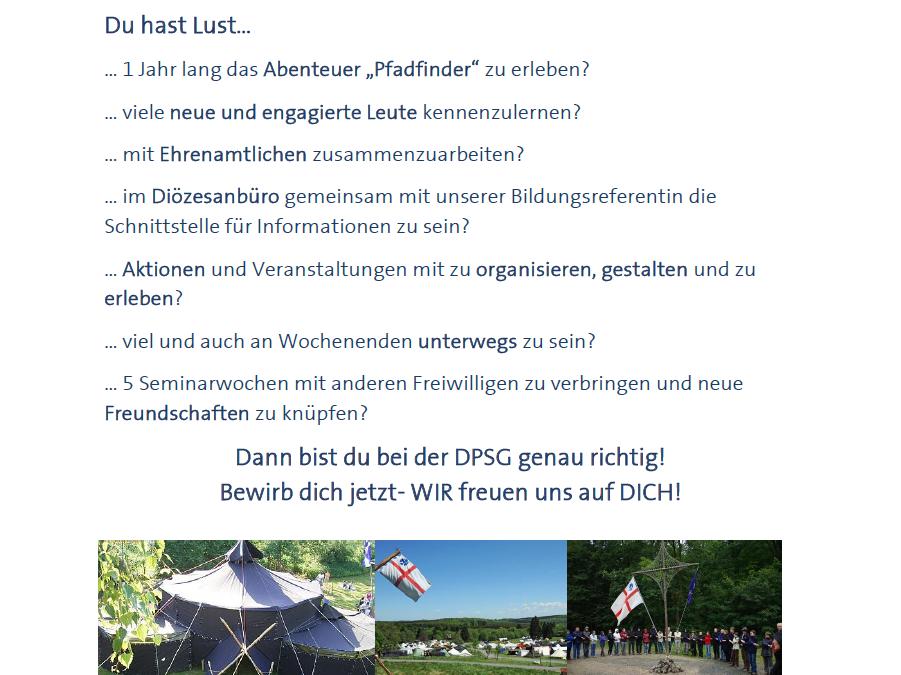 Bundesfreiwilligendienst (BFD) bei der DPSG DV Hildesheim